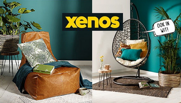 Xenos Leukste Dingen in Oktober Woonmaand – Xenos Hangstoel Swing & Xenos Limited Edition Leather Look Zitzak (Foto Xenos  op DroomHome.nl)