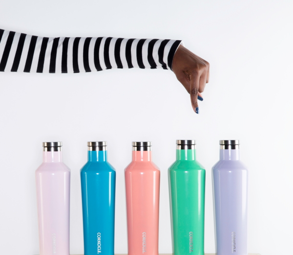 Design Thermosbekers van Corkcicle in Pastel kleuren (Foto Corkcicle Thermos Bottles Canteen & Tumbler op DroomHome.nl)