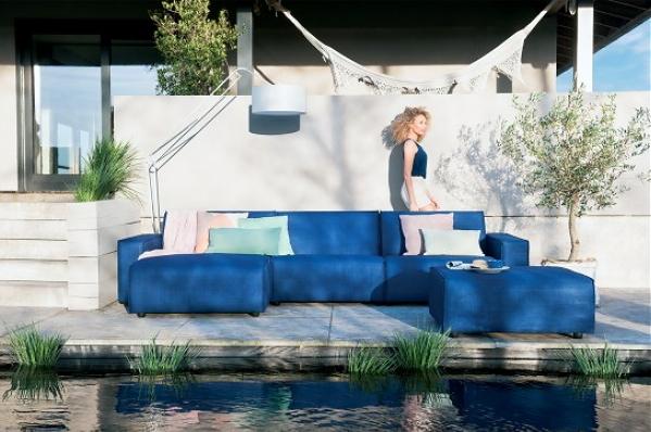 Keuken Gordijnen Leen Bakker : Woontrend – Zomer in Huis! – Loungebank Ibiza van Umix via Leen bakker