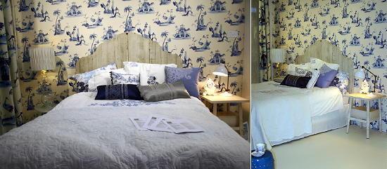 Blauw - Wit Kleur & Interieur Woonbeurs Fotos - Ariadne Slaapkamer ...