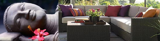 Sfeervolle tuinposters moderne tuinschilderijen voor balkon dakterras veranda terras - Idee decoratie terras ...