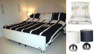 het gamma huis heeft een rustige slaapkamer ingericht met jan des bouvrie woonaccessoires