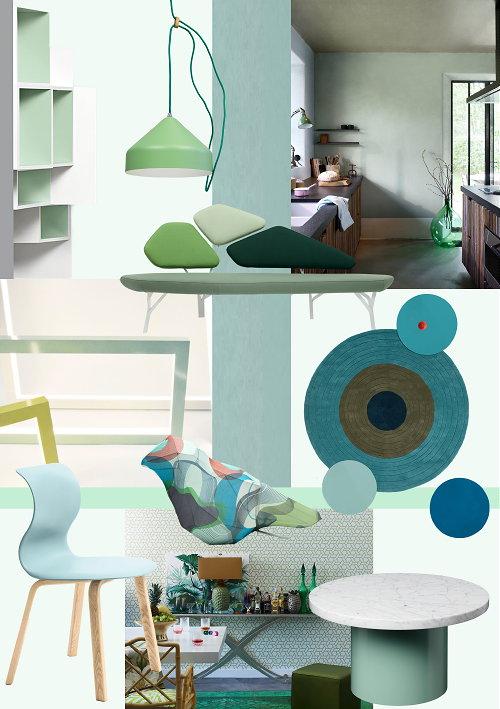 Trends - Moodboard Blue Lagoon - Interieur Inspiratie in Groen & Blauw ...