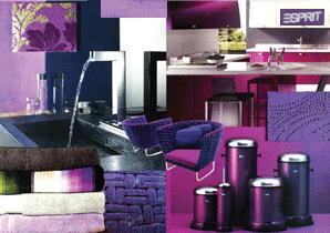 Interieur & Kleur Paars Moodboard met Paarse Woonaccessoires & Meubel...
