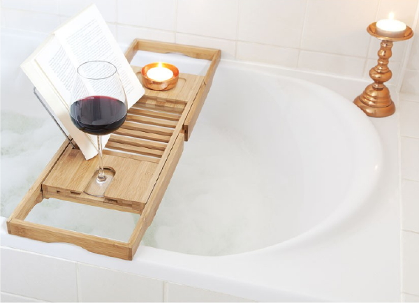 alles voor de thuis spa met xenos badkamer accessoires xenos badrekje bamboe foto