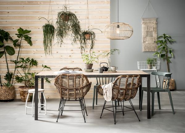 Eettafel stoelen karwei stoel bandung naturel tuinstoelen