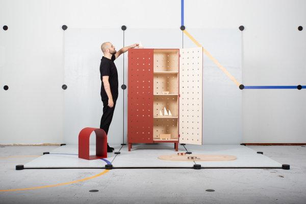 Designbeurs OBJECT Rotterdam 2021 – Designer Jeroen van Veluw kast (Foto Object Rotterdam  op DroomHome.nl)