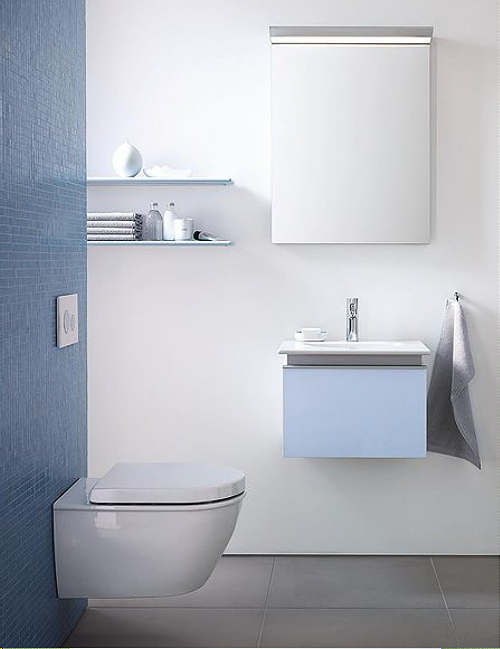 Behang Plafond Badkamer ~ Badkamer Trends Kleine Badkamer ~ Gasten badkamer Tips  Duravit