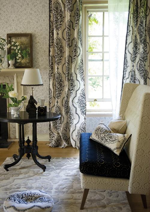 gordijnen jaloezien trend klassiek luxe interieur koninklijke stoffen van designers guild