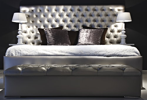 Slaapkamer Achterwand : ... grijze stof uitstekend in de Love Luxury ...