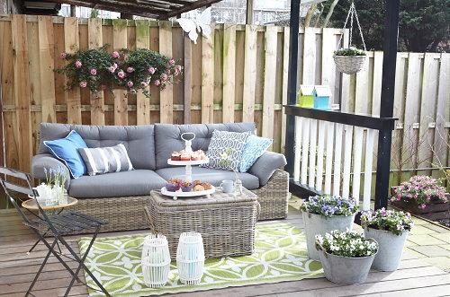 Razend romantisch tuin droomhome interieur woonsite - Terras tuin decoratie ...