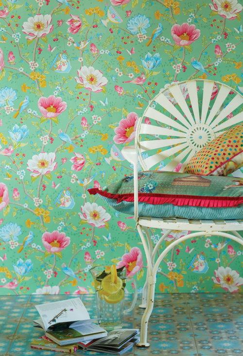 Keuken Behang Eijffinger : Behang – Pip Studio Behangboek 3 is Uit! Kleurrijk Bloemen Behang