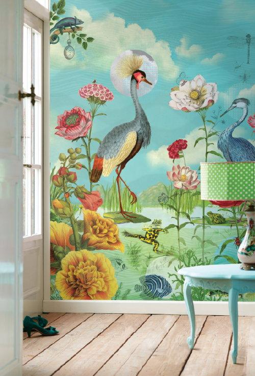 Pip Tapete Cherry Blossom : Eijffinger Pip Studio Behang Lovely Branches Geel Pip Studio Behang