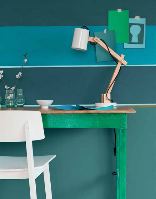 Interieur blauwgroen and schoonheid mode on pinterest for Interieur kleuren 2014