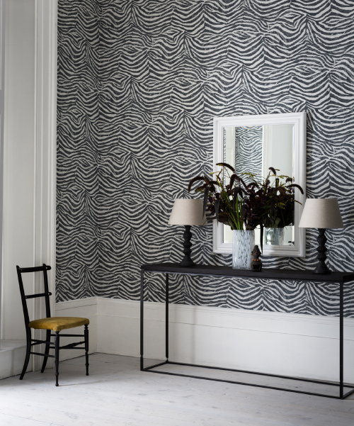 Behang Skin van Graham & Brown – Zebra Print Behang in Zwart ...