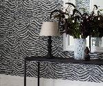 Behang trends dierenprint behang skin van graham brown zebra struisvoge tijger luipaard - Stijlvol behang ontwerpen ...