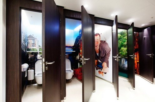 Fotobehang woonstijl tips droomhome interieur woonsite - Behang voor toiletten ...