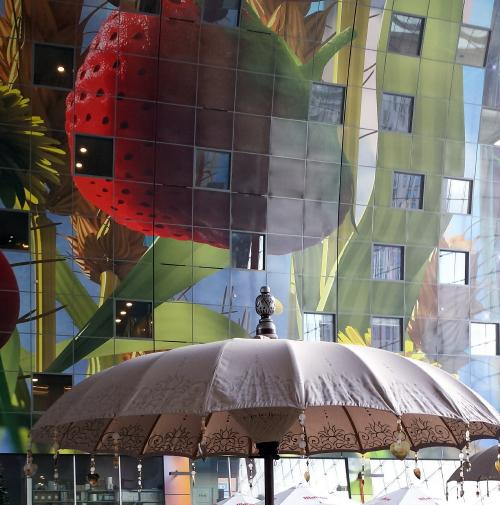 Fotobehang Keuken Design : Behang Trends: Fotobehang in Huis – Markthal Rotterdam, Dak Stilleven