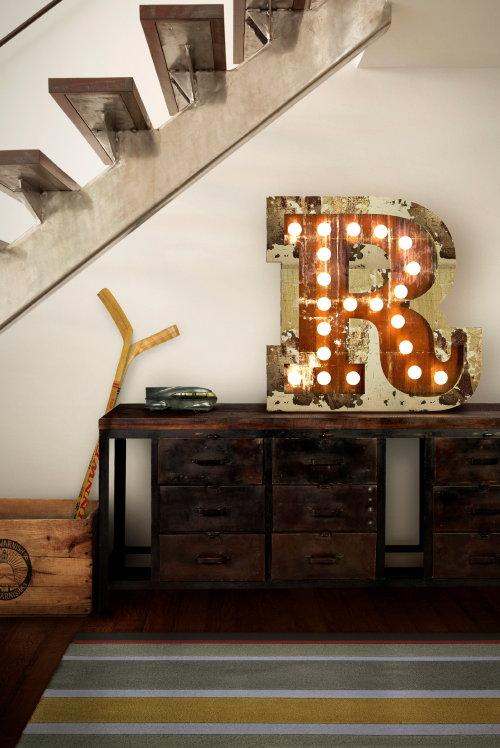 cijfer lampen letter lampen typografie letterlamp r in een landelijk wonen industrieel interieur