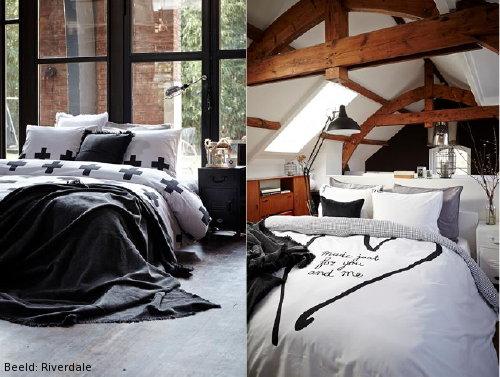 Zwart Wit Grijs Slaapkamer : ... in Wit & Zwart met Prints en Teksten ...