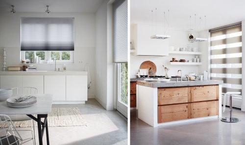 Raamdecoratie Voor De Keuken : Raamdecoratie Trends 2015: Wit Licht! – Raambekleding in de Keuken