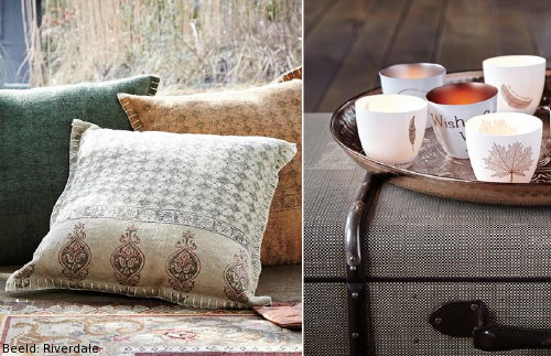 Winter Woontrend Riverdale Vagabond Vibes: Riverdale Kussens & Waxinelichthouders met Test en Quotes. (Foto Riverdale  op DroomHome.nl)