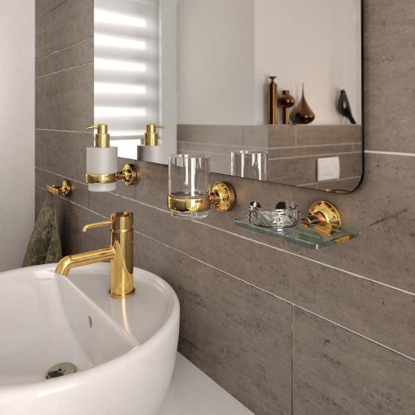Badkamer accessoires set rvs badkamer for Interieur accessoires groothandel