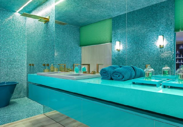 Droomhome interieur woonsite - Badkamer blauw ...