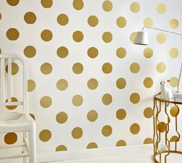 Droomhome interieur woonsite - Behang zwart en goud ...