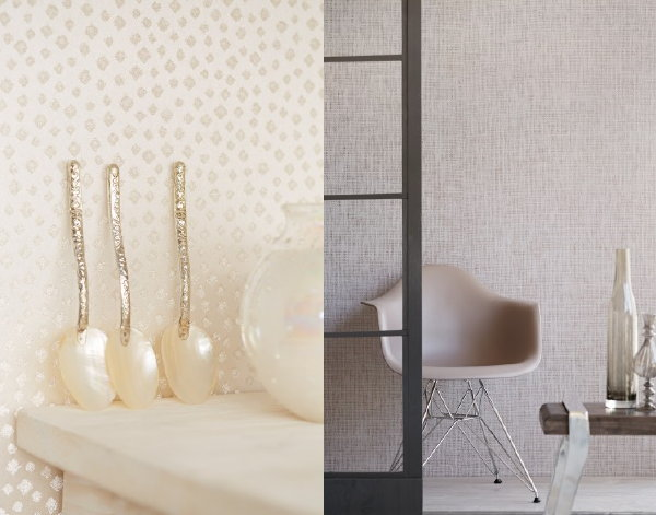 Behangtrends 2016: Hip of Luxe? – Eijffinger Whisper Wallpaper Behang Collectie. (Foto Eijffinger – Perscentrum Wonen  op DroomHome.nl)