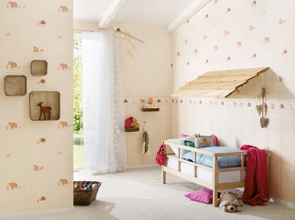 Goedkoop kinderkamer behang kopen verf en behangloods