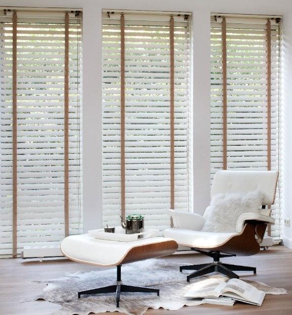 Houten jaloezie n droomhome interieur woonsite - Gordijnen interieur decoratie ...