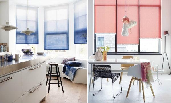 Raamdecoratie u0026 Raambekleding Trends: Rolgordijnen met Kleurverloop of ...