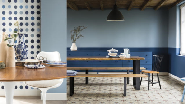 Flexa kleur 2017 denim drift droomhome interieur woonsite - Kleur trendy restaurant ...