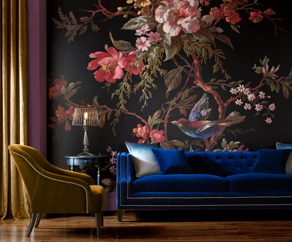 Behang Trend: Muurschilderingen Anno 2017 – Graham & Brown Venetian Floral Room – Bloemen Stilleven Behang – MEER Graham & Brown Behang… (Foto Graham & Brown Wallpaper  op DroomHome.nl)
