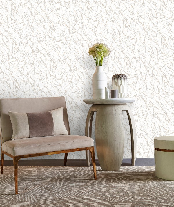 Exclusief Behang, Design Kelly Hoppen voor Graham Brown – Behang Splat Gold Room. MEER Graham & Brown Wallpaper… (Foto Graham & Brown  op DroomHome.nl)