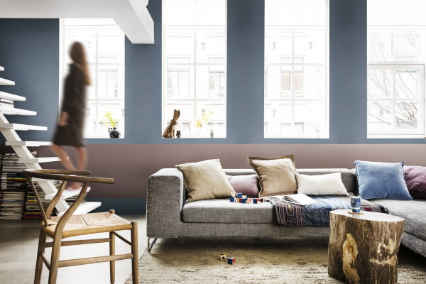 Grijs Blauw Interieur. Awesome Inspiratie Bank Woonkamer With ...