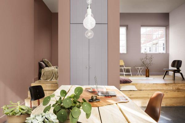 flexa kleur van het jaar 2018 heart wood flexa grijs roze kleur lees meer