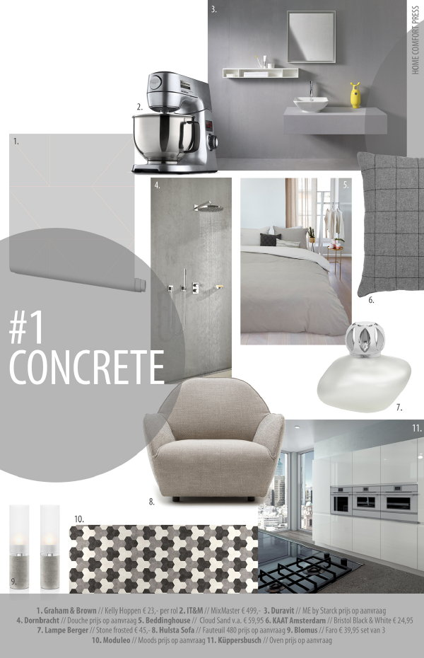 Concrete beton grijs moodboard droomhome interieur woonsite - Beton douche wax ...